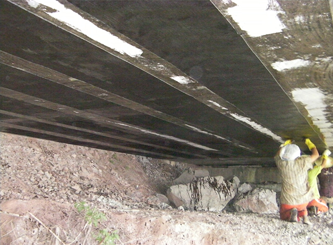 桥梁顶伸桥梁碳纤维加固